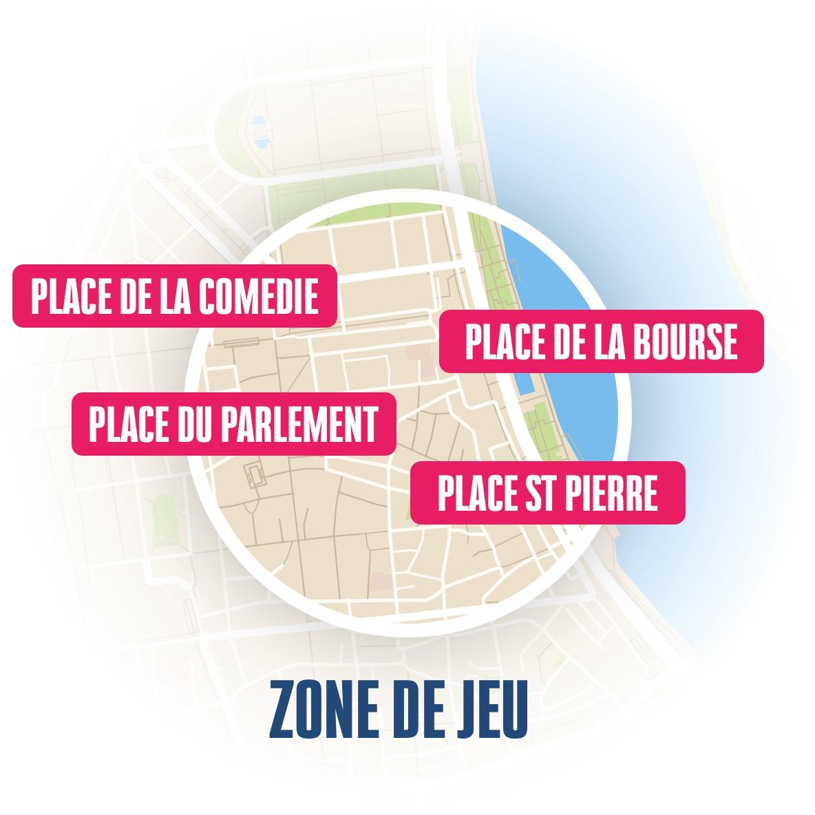 zone du jeu de piste à Bordeaux